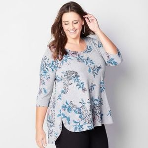 Knit high low Plus Size top